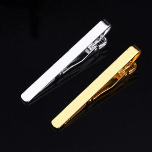 Men Fashion Silver Gold Tie Necktie Pin Clip Bar Copper Clasp Wedding Jewelry