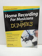 Home Recording Musicians For Dummies Guide Book Microphones Gear Computer Mix