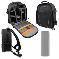Black / Orange Rucksack with Multiple Compartments for Logitech UE Megaboom
