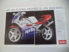 advertising Pubblicità 1990 MOTO APRILIA AF1 AF 1 125 FUTURA