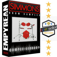 SIMMONS Drum Machine & Module Kits WAV Samples Electronic Sounds Library CD-R