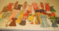 (5) Vintage Paper Dolls with approximately 50 outfits plus accessories.