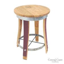 "Wine Barrel SWIVEL Top Stool  24"" 26"" 30"" Sit Height Rustic Furniture Bar Bistro"