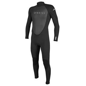 Oneill Mens Reactor 3mm 2mm Long Sleeve Steamer Black Wetsuit