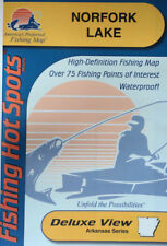Norfork Lake Detailed Fishing Map, GPS Points, Waterproof, Depth Contours  #L174