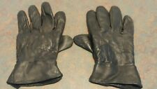 Men's Black Very Soft Lined Insulated Leather Text Touch Winter Driving Gloves