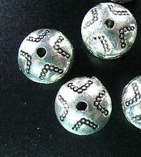 20pcs Tibetan Silver Cross Round Spacer Beads R866
