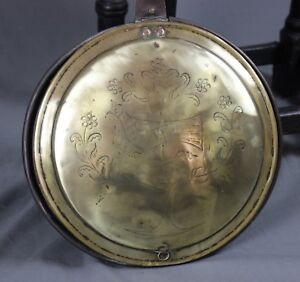 Early 19th Century Brass and Copper Warming Pan