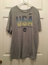 Nike United States 2016 Olympic Marathon Trials USA Gray Dri-Fit T-Shirt 2XL