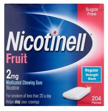 3 x Nicotinell Fruit 2mg Medicated Chewing Gum 204 Pieces