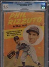 PHILL RIZZUTO BASEBALL HERO ONE SHOT FAWCETT 1951 CGC 2.5 CREAM TO OFF WHITE