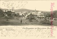 AK Karpacz (Ober-Krummhübel) i. Rsgb., Hotel goldener Frieden, 1901, 11/07