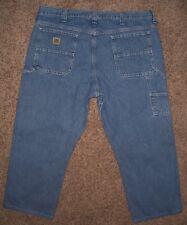Mens 40x27 LEE DUNGAREES CARPENTER Jeans multi pockets, light blue wash, cotton