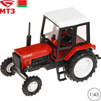 Tractor Scale 1:43 MTZ 82 Belarus Red Russian Farm Vehicle Toy Cars