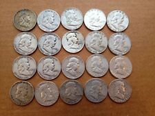 1950-1963 FRANKLIN SILVER Half Dollar Coin Roll Set 20 Diff Dates/Mintmarks-50c-