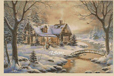 Christmas Cross Stitch Chart-hiver Country Cottage Nº... 346 A TSG37