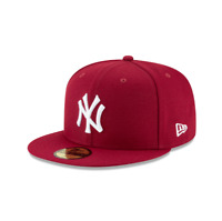 New York Yankees Crimson Basic New Era 59FIFTY Fitted Hat