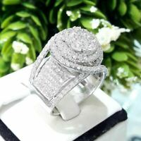 3.20 Ct 14K White Gold Over D/VVS1 Womens/Ladies Diamond Engagement Wedding Ring