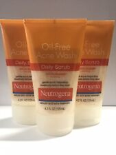 Neutrogena Oil-Free Acne Wash Daily Scrub 4.2 Fl. Oz. - Pack of 3