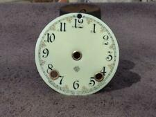 Ansonia Ornate Convex Porcelain Dial China Statue Figural Shelf Mantle Clock