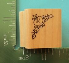 Heart and Flowers Corner Rubber Stamp by Embossing Arts