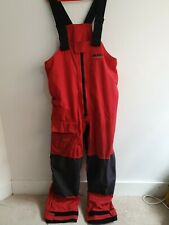 Musto Performace Red XL Salopettes Waterproof Breathable Sailing Outdoor