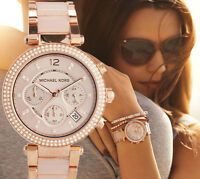 MICHAEL KORS Parker Blush Dial Rose Gold-Tone Ladies Watch MK5896