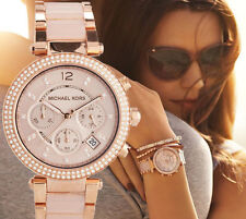 MICHAEL KORS Parker Blush Dial Rose Gold-Tone Ladies Watch MK5896