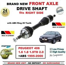 FOR PEUGEOT 406 1.6 1.8 1.9TD 2.0 +ABS 1995-2000 NEW FRONT AXLE RIGHT DRIVESHAFT