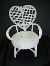 Baby Doll White Wicker Chair