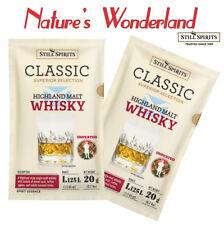 Classic HIGHLAND MALT WHISKEY (Whisky)2x20g sachets =2.25L Still Spirits ESSENCE