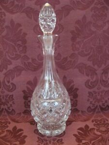 Vintage Elegant Cut Crystal Decanter - Very Nice!