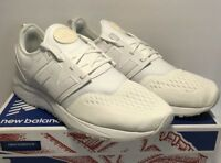 New Balance Mens Size 8.5 Lifestyle Athletic Running Shoes Sneakers White New