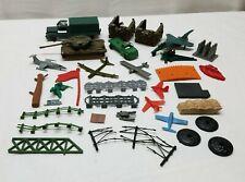 Vintage Plastic Military Vehicle Army Lot Tank Truck Model Fence Battleground