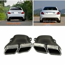 Exhaust Modified Muffler Pipe Dual Tips Tail for Mercedes Benz C-Class W205