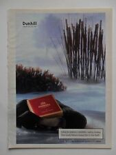 1996 Print Ad Dunhill Cigarettes ~ Fishing Diorama