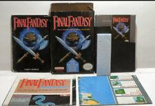 Final Fantasy Complete in Box Cib Both Maps Nes Nintendo Tested + Box Protector