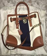 Michael Kors Hamilton White And Navy Bag