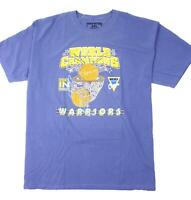 Pink Dolphin Mens Golden State Warriors Short Sleeve T-Shirt Blue 2XL New