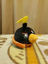 """Angry Birds Space Approx 5"""" Firebomb Bird Plush With Working Sound"""