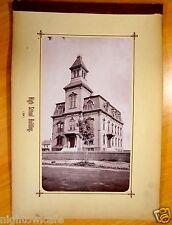 HIGH SCHOOL BUILDING Natick Massachusetts MA Antique Photograph 1880s rare image
