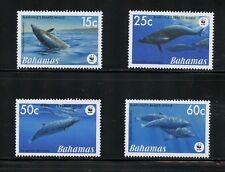 P084 Bahamas 2007 marine mammals whales Wwf 4v. Mnh