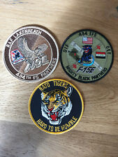 USAF patch set 4 3 RAF Lakenheath patches F-15E 494 FS EFS OTHER NATO VERSION