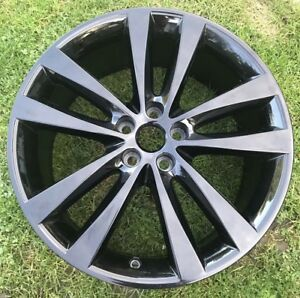 "1 x Jaguar 19"" Venom Style 5031 BLACK REAR Alloy Wheel *Genuine* (X760 XE R) OEM"