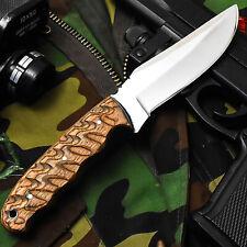 ALONZO KNIVES USA CUSTOM HANDMADE TACTICAL HUNTING 1095  KNIFE PAKKA WOOD 12452