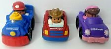 Lot of 3 Fisher Price Little People Wheelies Cars and Train