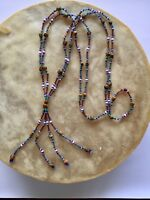 """New Handcrafted Navajo Ghost Bead Necklace 28"""" #7"""