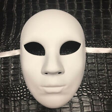 All White Women DIY Masquerade Mask Costume Prom Party Blank Mask