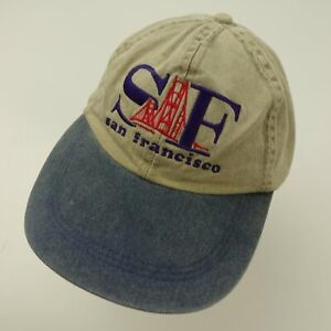 San Francisco Long Bill Ball Cap Hat Adjustable Baseball Golden Gate Bridge