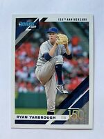 2019 Donruss Ryan Yarbrough Tampa Bay Rays 150th Anniversary Card /150